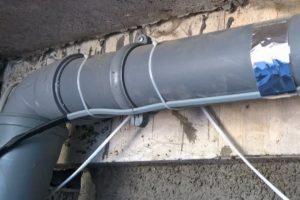 Пример обогрева канализации