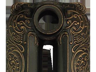 Патинирование бронзой на черной основе