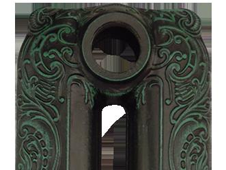 Патинирование состаренной бронзой на черной основе