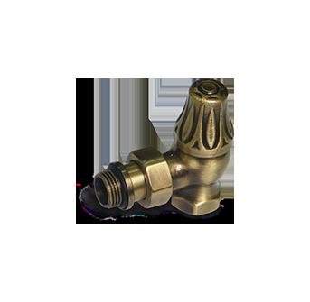 Угловой клапан для радиатора «ретро» бронза 1