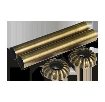 Комплект декоративных трубок бронза