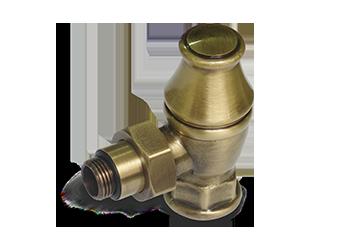 Угловой запорный клапан для радиатора бронза