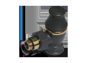 Угловой запорный клапан для радиатора антрацит