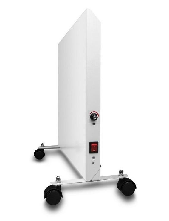 Нагревательная панель НЭБ-М-НСт белая вид с торца